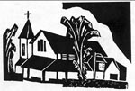 church woodcut